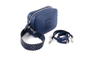 Mini Bag Ermanno Scervino Traforo Blu